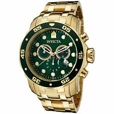 Invicta 0075 Men's Pro Diver Gold-Tone Quartz Watch