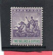 Barbados Vic. 1892-03 2/6 violet & green sg 115 H.Mint