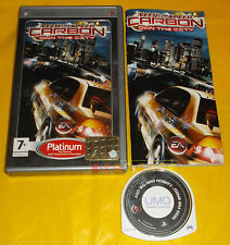NEED FOR SPEED CARBON OWN THE CITY Psp Versione Italiana Platinum ○○○○○ COMPLETO