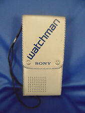 Sony Watchman portable TV FD 20A flat screen Analog black white VHF UHF electron