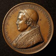 Chiese di stato, medaglia bronzo 1846, di Cerbara, A.D. ordination papa Pio IX.