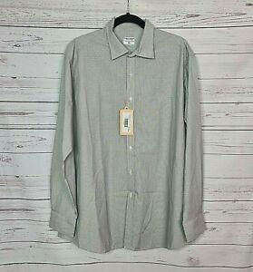 STAPLE SUPERIOR mens size XXL button down long sleeve shirt grey pattern BNWT