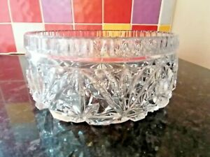 1940'S LARGE PRESSED GLASS BOWL FRUIT TRIFLE