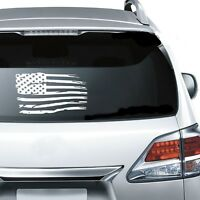 Distresses American Flag Window Sticker Decal any size any color