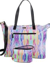 NWT LUV Betsey Johnson Tie Dye Weekender Overnighter Travel Tote Bag + Wristlet