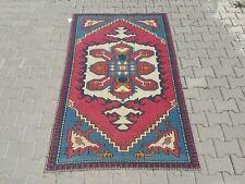 Area Rug,3'8x'6'8,Turkish Rug,Turkis Kilim, Rug,Vintage Rug,Hand knot rug,oushak
