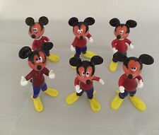 NEW AUTHENTIC MURANO GLASS LOT OF 6 MICKEY MOUSE FIGURINES. ITALY.