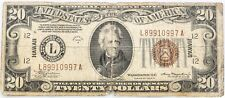 $20 Federal Reserve Note Hawaii Overprint Series 1934 A