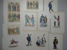 Japan Trachten Mode Soldaten Musiker Völkerkunde kol 3 Lithos 8 Holzstiche 1850