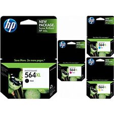 300 Genuine Virgin Empty HP 564XL Ink Cartridges (75 ea 4 clrs) New Gen Blacks