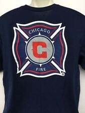 Adidas CHICAGO FIRE soccer club 2 sided navy blue t shirt XL