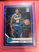 2019-20 Panini Optic Prizm Blue Velocity Bol Bol RC Rated Rookie Nuggets #162