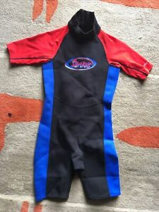 Stearns Kids Shorty Wetsuit Toddler Size Large Black Red & Blue
