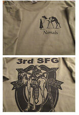 3rd Special Forces Group NOMADS T-Shirt XL Ultra Cotton Tan Military Collectible