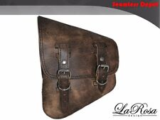 La Rosa HD VRSCDX VRSCAW VRSCA VRSCB Left Saddlebag - Rustic Brown Leather Bag