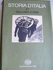 STORIA D'ITALIA DALL'UNITÀ A OGGI STORIA POLITICA E SOCIALE VOL 4 TOMO 3 EINAUDI