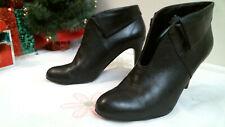NINE WEST ANKLE boots size 7 M  BLACK FASHION heels LEATHER