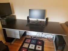 IKEA Desk, Black with 2 drawers
