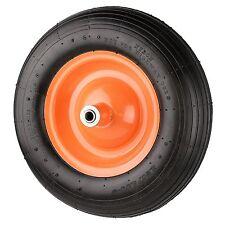 "16""Pneumatic Wheelbarrow Wheel Barrow Yellow  Air Tire with Centre Hub 5/8"", NEW"