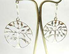 Round Tree of Life Fine Silver 925 Fish Hook Earring Female Jewelry