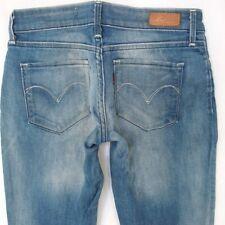 Ladies Womens Levis BOLD CURVE SKINNY Stretch Blue Jeans W28 L34 UK Size 8