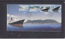 Gibraltar 2006 Cruise Ships Queen Elizabeth 2 Mary 2 FDC Gibraltar special pmk