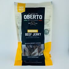 Twin Pack Oberto Original Beef Jerky 9 oz Each No Nitrates Added Gluten Free