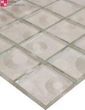 Pâte de verre carrelage mosaïque carreaux mosaique Cercle argent