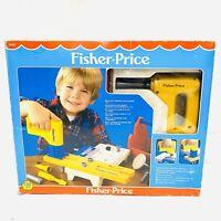 Vintage 1986 FISHER PRICE Power Workshop (Model No. 2008) VGC Working Drill!