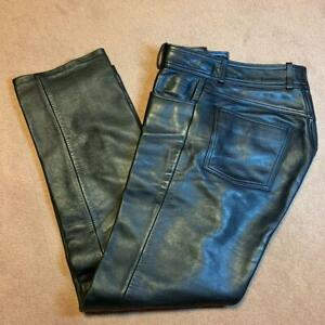 Harley-Davidson Authentic Cow leather Pants Size L Used from Japan