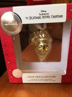 Hallmark Premium Jack Skellington Nightmare Before Christmas Ornament GOLD metal