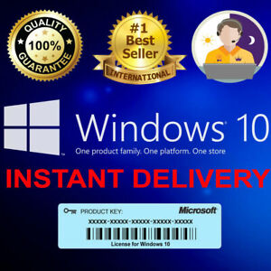 WINDOWS 10 PRO KEY PROFESSIONAL | 32/64 BIT LICENSE KEY | GENUINE ACTIVATION
