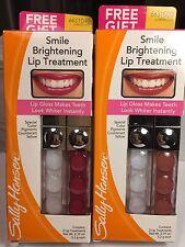 Lot of 2 Sally Hansen Smile Brightening Lip Treatment Gloss Luminous & Dazzling
