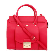 Furla Metropolis Magia Ladies Medium Red Ruby Leather Satchel 978003