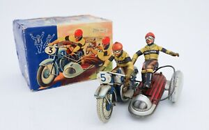 TIPP & COMPANY TIPPCO - TCO 505 MOTORCYCLE SILVER RACER IN ORIGINAL BOX TIN TOY