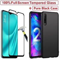 Tempered Glass Screen Protector + Cover Case For Huawei P30 Pro Lite Mate 20 Pro
