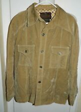 VTG CAMPUS OUTERWEAR Camel Velvet Lined Jacket Coat Size 46 Made in USA