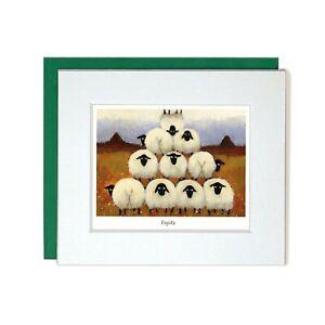 Eejits Card by Thomas Joseph   Blank Greeting Card, Sheep