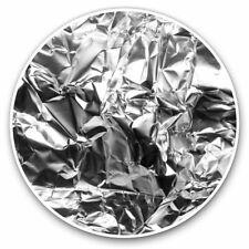 2 x Vinyl Stickers 25cm - Silver Aluminium Foil Cool Cool Gift #2061