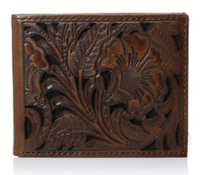 Ariat Bifold Embossed Brown Leather Wallet A3533002