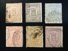 Nederland, 1869, Wapenzegels, NVPH 13-18, Gestempeld, CW €334,00