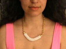 EGYPTIAN NATIVE AMERICAN NECKLACE BEAD TRIBAL CHAIN RARE WHITE BLESSED