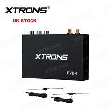 XTRONS In-Car DVB-T Digital TV Tuner Freeview Receiver Box HDMI USB + 2 Antenna