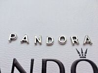 Genuine Pandora Floating Locket LETTERS Charms Petites Silver S925 ALE New