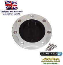 Oberon Performance Kawasaki Fuel/Gas/Race Cap Kit #FUE-0407-SILVER-BLACK
