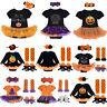 Newborn Baby Girls Boys My 1st Halloween Bodysuit Romper Headband Outfit Costume