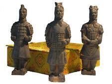 ENTOMBED TERRACOTTA WARRIORS OF XIAN - 15 cm set of 3