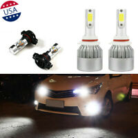 4x 6000K White Led Headlight Front Fog Light Bulbs Kit For Toyota RAV4 Corolla