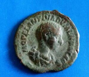 Roman bronze limes denarius Diadumenian  217-218 AD