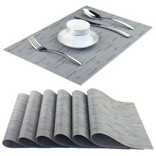 New listing BeChen Placemats,Washable Easy to Clean Woven Vinyl Kitchen Placemats for Din.